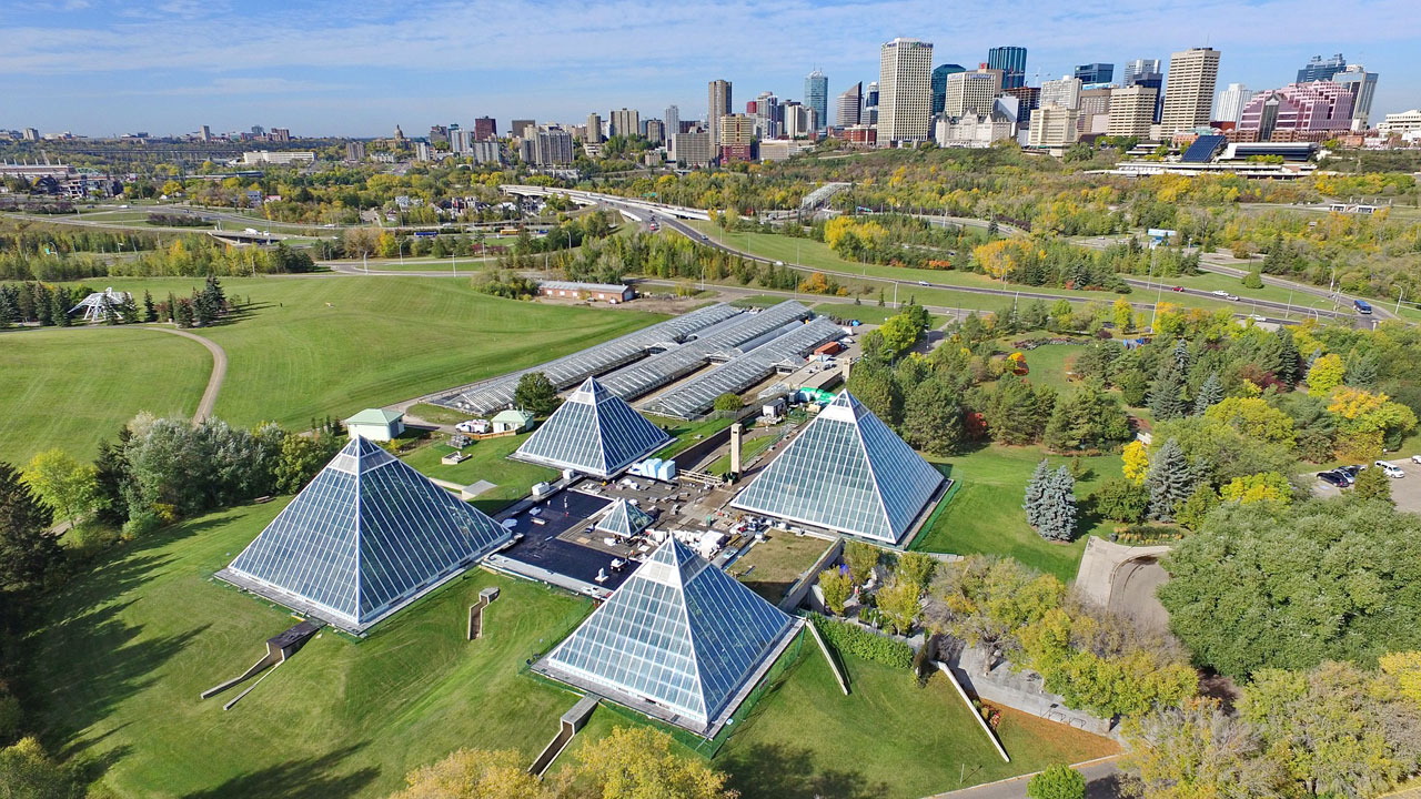 Muttart Conservatory adjacent to the Cloverdale neighbourhood in Edmonton. Brought to you by Greater Edmonton Real Estate